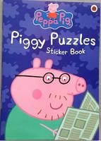#1611 Ladybird 《Peppa Pig》Piggy Puzzles Sticker Book 粉紅小豬貼紙遊戲書【課外書】