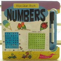 #930 英文原版 wipe-clean book 可反複擦寫紙板書 Numbers 9645