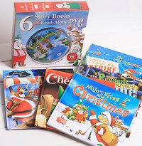 #792 英文原版精裝童話故事書1套6本(聖誕故事系列)配CD&DVD