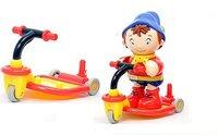 #825  經典童話Noddy玩具可愛滑板車配一個公仔(禮盒裝)