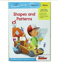#1189 Disney School Skills 數學練習冊 Shapes and  Patterns  Ages 4-5 						 9971