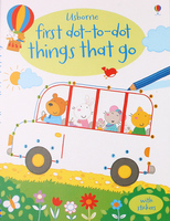 【售罄】#1581 Usborne First dot-to-dot things that go 連線+填色+貼紙+