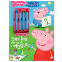 #1999 Peppa Pig Smiles and Giggles,填色貼紙遊戲書