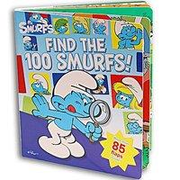 #1138 推介 ~ 超有趣英文原版 Find the 100 Smurfs (超過80個機關),英文圖書,藍精靈