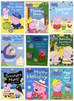 #1885 Ladybird 《Peppa Pig》貼紙遊戲書 ,粉紅豬小妹,1套10本《課外書》