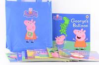#1964 Peppa Pig 故事書1套10本連藍色環保袋