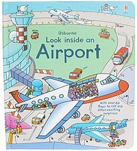 【售罄】#891 强烈推介 ^^  Usborne Look inside an Airport 立體揭揭書 (超過60個機關) 4182