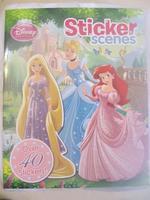#1565 Disney Sticker Scenes 公主,貼紙故事書,超過40個貼紙,英文圖書