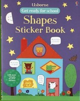 #1889 Usborne Get Ready For School Shapes Sticker Book/貼紙書/課外書