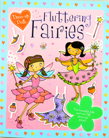 #1780 Igloo 超精美!女孩換衣遊戲手工故事書,Dress-up Dolls Fluttering Fairies 【包郵】