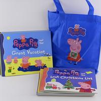 #1965 Peppa Pig 故事書1套11本連藍色環保袋