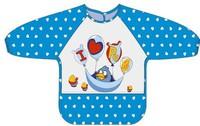 #1707 兒童防水飯衣,勞作衣,I Love Pa Pa 藍色