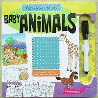 #929 英文原版 wipe-clean book 可反複擦寫紙板書 Baby Animals 7806