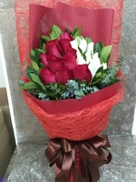 [鮮花速遞,網上訂花] A0307雙色玫瑰花束(22枝雙色玫瑰