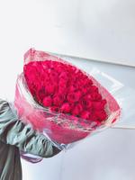 [鮮花速遞,網上訂花] #AF1822情人節99枝紅色玫瑰花束 售罄