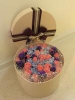 [鮮花速遞,網上訂花] #H017花盒(19枝粉紅玫瑰)