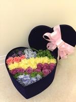 [鮮花速遞,網上訂花] #H013花盒(11枝雙色玫瑰)