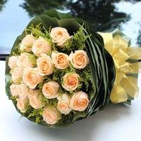 [鮮花速遞,網上訂花] #A1501005情人節花束(19枝香檳玫瑰)