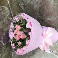 [鮮花速遞,網上訂花] #A2016020粉玫瑰花束(11粉玫)
