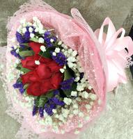 [鮮花速遞,網上訂花] #AF2016021情人節紅玫瑰花束(11红玫)