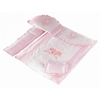 KUKU 7 Pieces Bedding Set - Pink