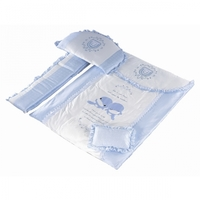 KUKU 7 Pieces Bedding Set - Blue