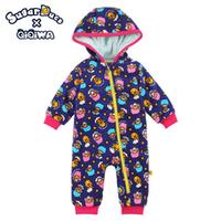 TWIN LITTLE 冬季 嬰兒 長袖 bb衫 厚夾衣 7876