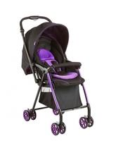Geoby 50cm 高坐位 雙向 超輕量 單手收車 幼兒 嬰兒 可站立 手推車-紫黑色 829U