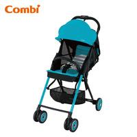 日本 Combi F2 Plus AF 特價 輕量 高坐位 單手收車 嬰兒 手推車 bb 車 - light blue