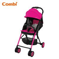 日本 Combi F2 Plus AF 特價 輕量 高坐位 單手收車 嬰兒 手推車 bb 車 粉紅色
