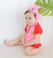 游泳用品 NISSEN粉紅小免仔bb造型泳衣