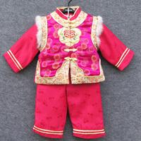 新年 唐装 女童唐裝棉服套裝
