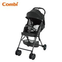 日本 Combi F2 Plus AF 特價 輕量 高坐位 單手收車 嬰兒 手推車 bb 車 黑色