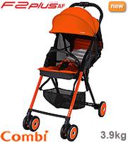 日本 Combi F2 Plus AF 特價 輕量 高坐位 單手收車 嬰幼兒手推車 bb 車 橙色 3,9 kgs
