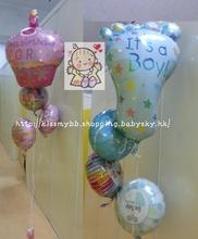 可愛BB款球束4個裝 百日宴佈置 氦氣球Baby Balloon Set Decoration  包充氣(現貨)