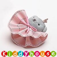 百日宴bb嬰兒/女童派對髮飾物用品~可愛布藝立體裙仔小兔小童髮夾(每隻) H628 現貨