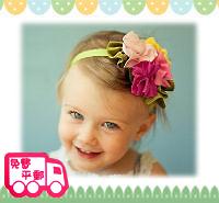 百日宴bb嬰兒影相用品/女童派對髮飾~青蔥彩花頭飾髮帶 小童飾物 兒童髮飾 Elastic Flower Headband H085 現貨