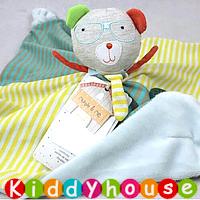 bb嬰兒玩具/禮物精選~精靈小熊立體安撫咬咬巾 T236 現貨