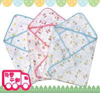 BB嬰兒用品~4層全棉嬰兒紗布包巾/抱毯/抱被/浴巾BB495  現貨