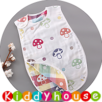 BB嬰兒用品~6層純棉紗布防踢被背心睡袋45cmx80cm BB1458 現貨