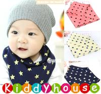 嬰兒用品~型格星星三角巾口水肩(3色) BB467 現貨