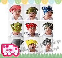 百日宴bb嬰兒影相用品/女童派對髮飾~可愛針織 bb牛角帽 Baby Hat(9款)/嬰兒頭飾 Baby Hat  H097(1-9) 現貨