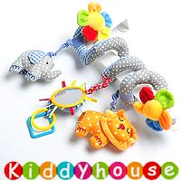 bb嬰兒玩具/禮物精選~Sozzy藍色大象可愛獅子音樂車床繞/吊掛飾 T158  現貨