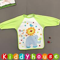 嬰兒bb用品~可愛有趣動物圖案幼童飯衣/口水肩/小圍裙 BB1433 現貨