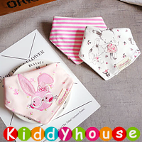 嬰兒用品~三角巾雙層純棉口水肩bib(3件裝) BB963 現貨