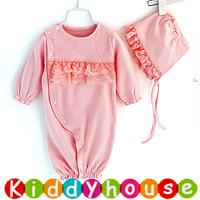 嬰兒bb衫~小公主百日宴會派對 兩用夾衣睡袋 連帽套裝 BB1170 現貨