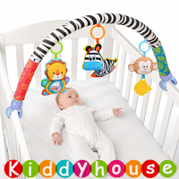 bb嬰兒車玩具/禮物精選~Sozzy小動物嬰兒車床夾 T330 現貨