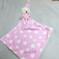 bb嬰兒用品~可愛小熊星星安撫巾 T489 現貨
