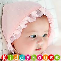 百日宴bb嬰兒影相用品/女童派對髮飾物~純純小公主娃娃帽 HT014 現貨