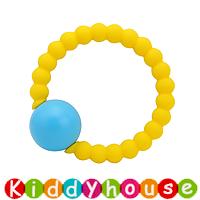bb嬰兒玩具~明亮矽膠安全手搖鈴安撫玩具 T513 現貨